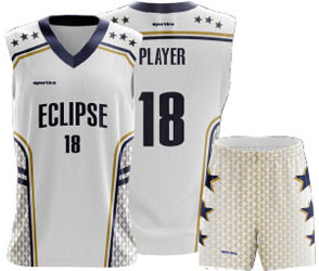 Eclipse jersey and shorts for basketball