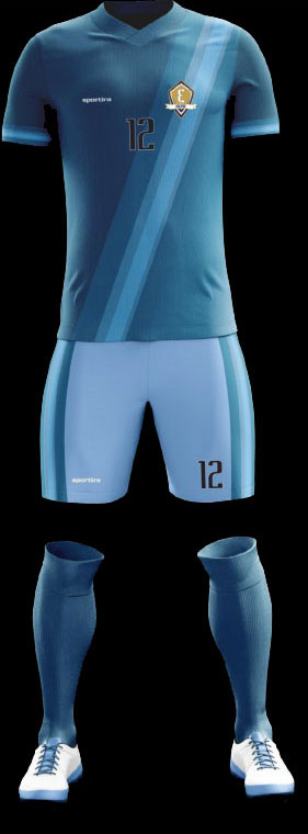 Sportira sublimation kit with jersey, shorts and socks