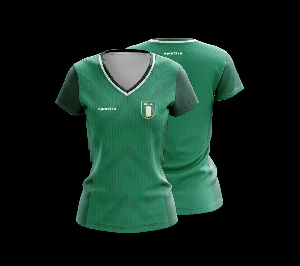 huge discount bfcd5 d2fb0 Nigeria Replica Jersey - Women - Sportira Exclusive Collections
